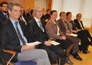 Kammerpräsident Dr. Carsten Hünecke und KZV-Vorstandsvorsitzender Dr. Jochen Schmidt, auf dem Neujahrsempfang der Heilberufler.